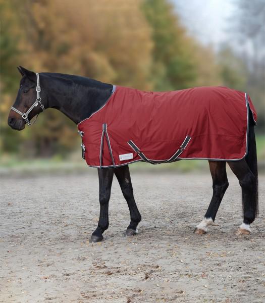 Outdoordecke Economic Fleece, rubinrot/asphalt, 165cm