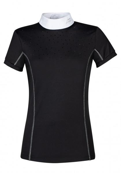 Equline Damen Turniershirt Pitas, schwarz