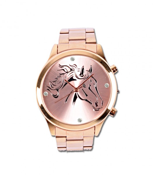 Damen-Armbanduhr Rosegold