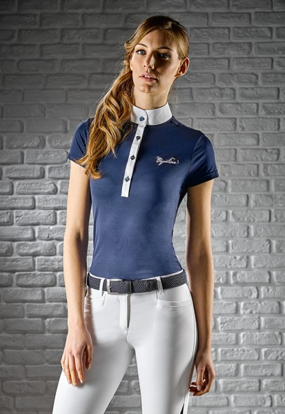 "Equiline Damen Turniershirt ""Grace"", navy"
