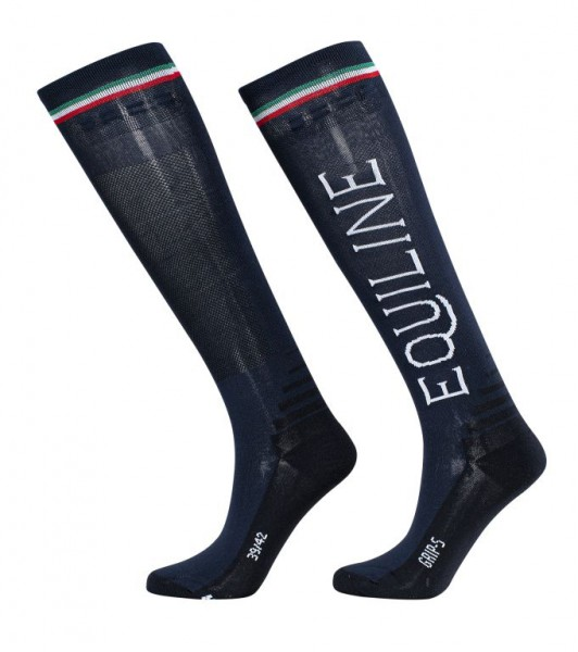 Equiline Grip-Reitsocken Team, unisex, Navy
