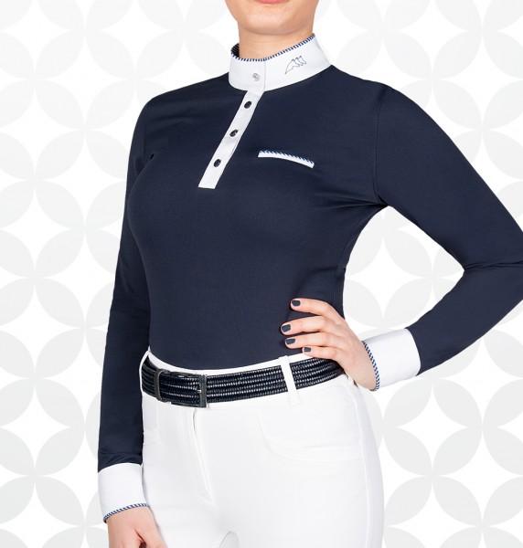 "Equiline Damen Turniershirt ""Gracielle"", weiss"