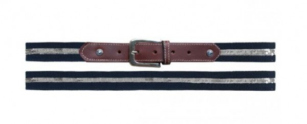 Belt sequin, Navy/Silver